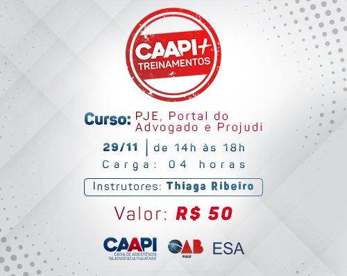 CAAPI + Treinamento: PJE, Portal do Advogado e Projudi