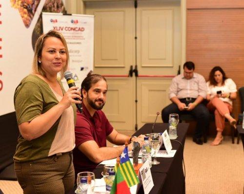 Andréia Araújo participa do XLIV Encontro Nacional dos Presidentes de Caixas de Assistência em Cuiabá