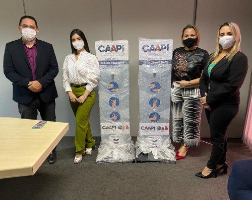 CAAPI disponibiliza dispensers de álcool gel nas agências do INSS PI